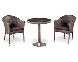 Комплект плетеной мебели Афина-мебель Т501DG/Y350G-W1289