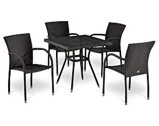 Комплект плетеной мебели Афина-мебель Т283BNT-W2390/Y282А-W52-4PCS