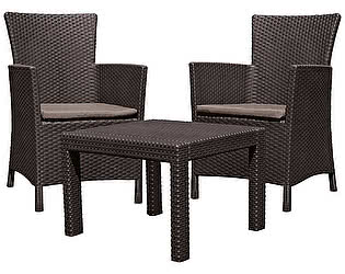 Комплект плетеной мебели Keter Rosario balcony set 17200030
