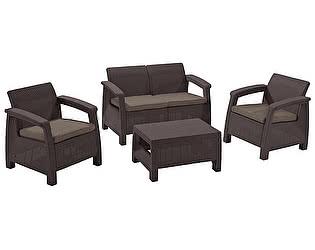 Купить  комплект садовой мебели Keter Corfu set 17197361