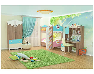 Комплект детской мебели Мебельсон Пряничный домик К2