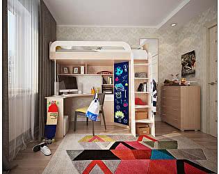 Комплект детской мебели Мебельсон Мультиплекс фасад грифельный