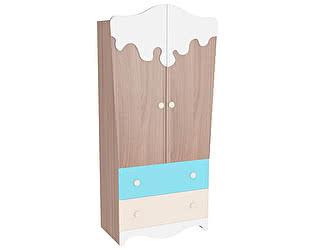 Шкаф Мебельсон Пряничный домик 2-х створчатый с ящиками