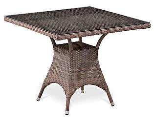 Плетеный стол Афина-мебель T220BBТ-W52 / T220BG-W1289