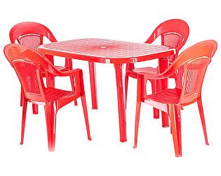 Купить  комплект садовой мебели ЭЛП Набор пластиковой мебели Стол овальный + Кресло Венеция