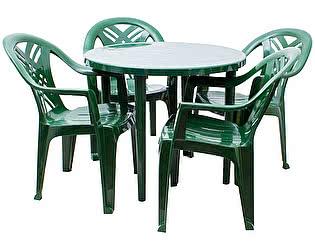 Купить  комплект садовой мебели Стандарт Пластик Набор пластиковой мебели Стол круглый+Кресло №6 Престиж-2