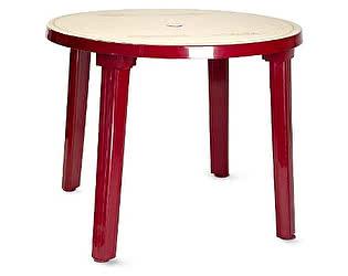 Купить стол ЛетоЛюкс пластиковый круглый 90