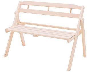 Купить скамейку СМКА Скамейка БМ053Б садовая скл. со спинкой 1,1 м осина