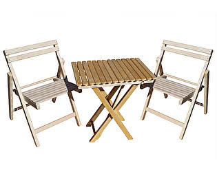 Купить  комплект садовой мебели СМКА СМ008Б + СМ046Б