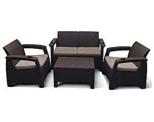 Комплект плетеной мебели Афина-мебель Yalta Brown - M6142 4Pcs