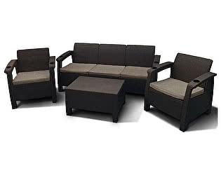 Комплект плетеной мебели Афина-мебель Yalta Brown - M6172 5Pcs