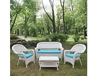 Комплект плетеной мебели Афина-мебель LV130 White/Blue