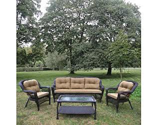 Комплект плетеной мебели Афина-мебель LV216 Brown/Beige