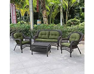 Комплект плетеной мебели Афина-мебель LV520GG Grey/Green
