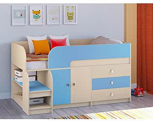 Кровать-чердак РВ Мебель Астра-9 Дуб молочный В1
