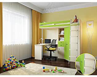 Кровать-чердак РВ Мебель М-85 Дуб Молочный