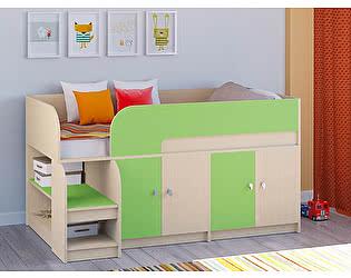 Кровать-чердак РВ Мебель Астра-9 Дуб молочный В2