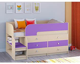 Кровать-чердак РВ Мебель Астра-9 Дуб молочный В3