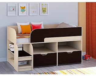 Кровать-чердак РВ Мебель Астра-9 Дуб молочный В6