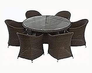 Обеденная группа Rotang Lux Малага (стол круглый)