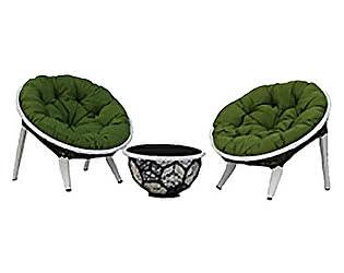 Кресло для отдыха и пуф Rotang Lux Вена