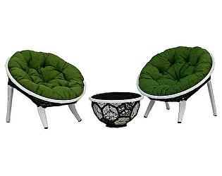 Купить кресло Rotang Lux Вена для отдыха и пуф