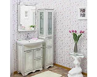 Купить готовую ванную комнату Sanflor Адель 65 белая, патина серебро