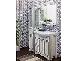 Мебель для ванной Sanflor Адель 82 белая, патина серебро, L