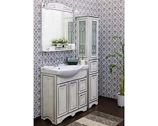Мебель для ванной Sanflor Адель 82 белая, патина серебро, R