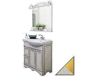 Мебель для ванной Sanflor Адель 82 белая, патина золото, L