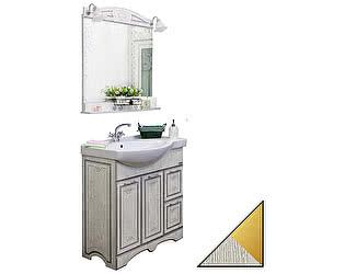 Мебель для ванной Sanflor Адель 82 белая, патина золото, R