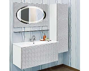 Купить готовую ванную комнату Sanflor Белла 100 белая, патина серебро