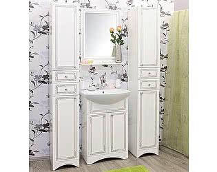 Мебель для ванной Sanflor Элен 60 белая, патина серебро