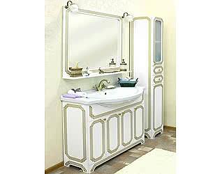 Мебель для ванной Sanflor Каир 120 белая, золотая патина