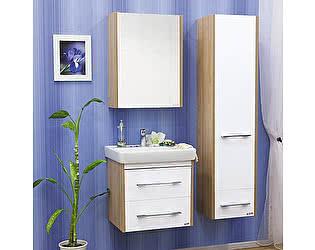Мебель для ванной Sanflor Ларго 2 60 вяз швейцарский, белая