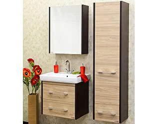 Мебель для ванной Sanflor Ларго 2 60 вяз швейцарский, венге