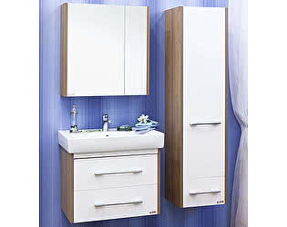 Мебель для ванной Sanflor Ларго 2 70 вяз швейцарский, белая