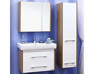 Мебель для ванной Sanflor Ларго 2 80 вяз швейцарский, белая