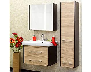 Мебель для ванной Sanflor Ларго 2 80 вяз швейцарский, венге