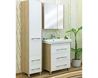 Купить готовую ванную комнату Sanflor Ларго 80 вяз швейцарский, белая