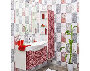Мебель для ванной Sanflor Санфлор 100 красная, патина белая