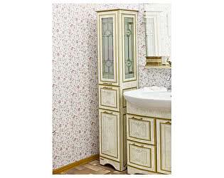Купить шкаф Sanflor Адель белый, патина золото L