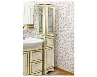 Купить шкаф Sanflor Адель белый, патина золото R