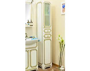 Купить шкаф Sanflor Каир белый, золотая патина R