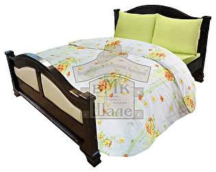 Кровать Шале Леонсия резьба ткань