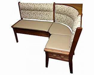Угловой диван Кристофер Шале с резьбой