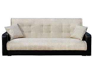 Диван Стоффмебель Лондон (рогожка микс серая) с подушками