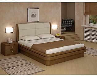 Кровать Торис Эва L1 (Лило) кожа