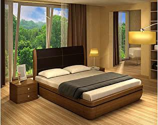 Кровать Торис Тау 1 L1 (Лило) кожа