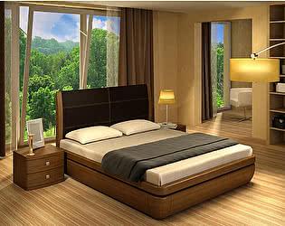 Кровать Торис Тау 2 L1 (Лило) кожа
